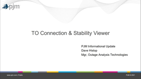Thumbnail for entry TO Connection and Stability Viewer Training Video