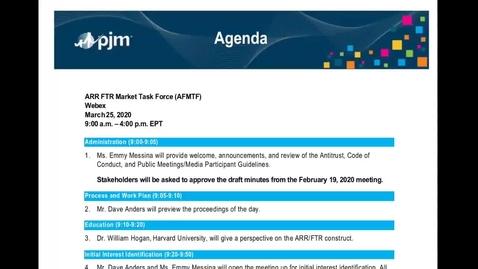 Thumbnail for entry ARR/FTR  Market Task Force Meeting - 3.25.2020