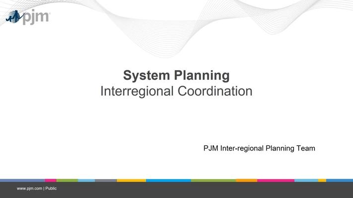 Planning 201 - Interregional Coordination
