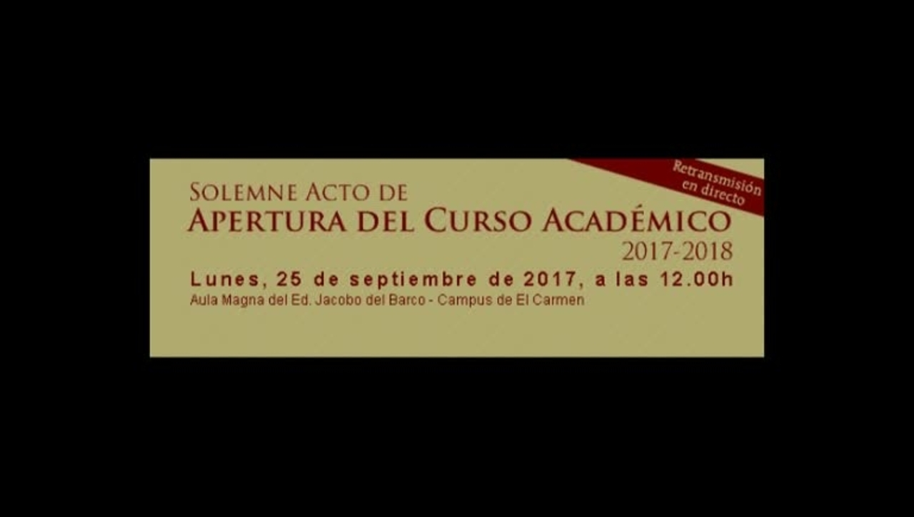 Acto de Apertura Curso Académico 2017/2018