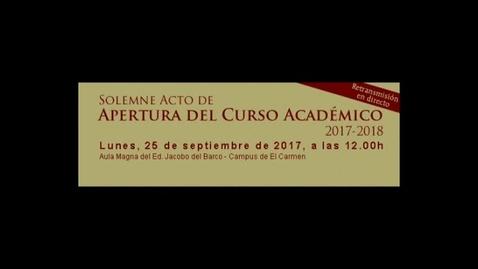 Miniatura para la entrada Acto de Apertura Curso Académico 2017/2018