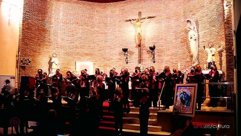 """Miniatura para la entrada Concierto del Coro de la UHU. """"Stabat Mater"""" dirigido por Sergio Lazo. Resumen."""