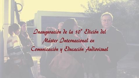 Miniatura para la entrada Inauguración 10ª Edición del Máster Oficial de Comunicación y Educacion Audiovisual 2019/2020