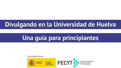 Miniatura para la entrada Divulgando en la Universidad de Huelva - Zaira E. Morales