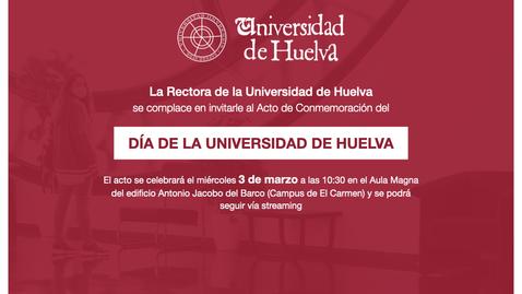 Miniatura para la entrada DÍA DE LA UNIVERSIDAD DE HUELVA