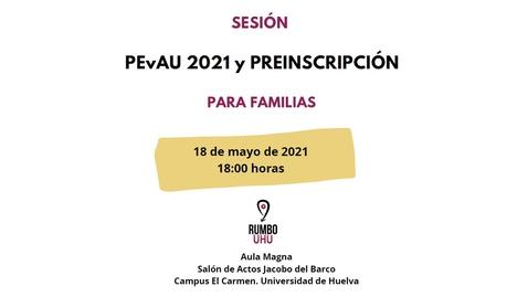 Miniatura para la entrada Jornadas informativas sobre PEvAU y preinscripción