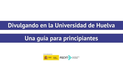 Miniatura para la entrada Divulgando en la Universidad de Huelva - Víctor Manuel Pérez