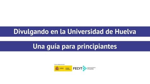 Miniatura para la entrada Divulgando en la Universidad de Huelva - David Amador