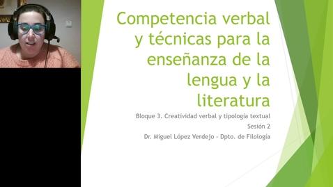 Competencia verbal. Primaria. Clase teórica Bloque 3.2 19 de marzo