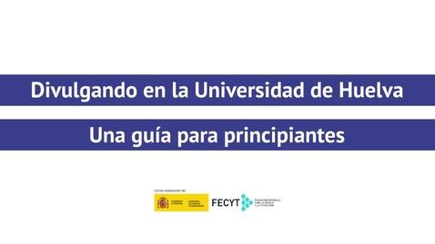 Miniatura para la entrada Divulgando en la Universidad de Huelva - Mercedes Jiménez