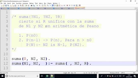 Miniatura para la entrada RC#4 PROLOG ARITMÉTICA DE PEANO 🦠😷🏡🧻 Clases Online 2020-03-26 12:39:13