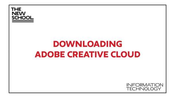 Adobe Creative Cloud Download | IT Website