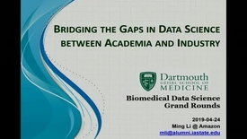 Thumbnail for entry Bridging the Gaps in Data Science between Academia and Industry