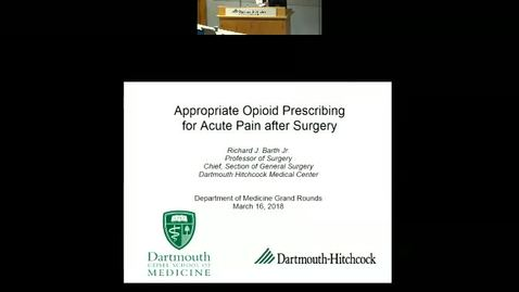 Appropriate Opioid Prescribing after Surgery