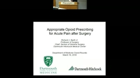 Thumbnail for entry Appropriate Opioid Prescribing after Surgery