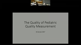Thumbnail for entry The Quality of Pediatric Quality Measurement.