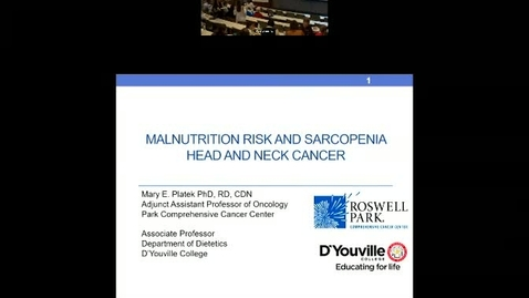 Thumbnail for entry Malnutrition and Sarcopenia in Head and Neck Cancer Patients undergoing Radiation Therapy