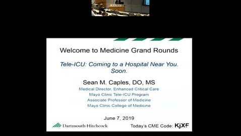 Thumbnail for entry Tele-ICU: Coming to a Hospital Near You. Soon