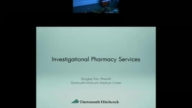 Thumbnail for entry Investigational Pharmacy Services