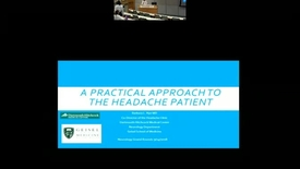 Thumbnail for entry A Practical Approach to the Headache Patient