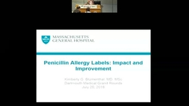 Thumbnail for entry Penicillin Allergy Labels: Impact and Improvement