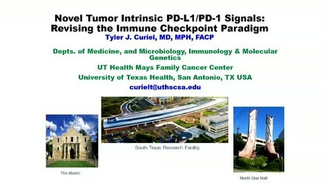 Thumbnail for entry Novel Cell-intrinsic PD-L1 Signals in Tumor Virulence and Treatment Resistance: Revising the PD-1/PD-L1 Treatment Paradigm