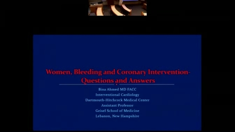 Women, Bleeding and Coronary Interventions: Questions and Answers