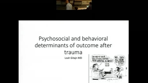 Psychosocial and behavioral determinants outcome after trauma