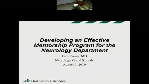 Thumbnail for entry Developing an Effective Mentorship Program for the Neurology Department