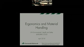 Thumbnail for entry Ergonomics and Material Handling