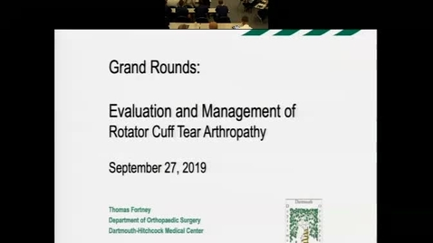 """Thumbnail for entry """"Evaluation and Management of Rotator Cuff Tear Arthropathy"""""""