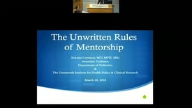Thumbnail for entry The Unwritten Rules of Mentorship