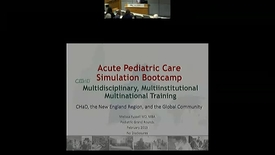 Thumbnail for entry A Multidisciplinary, Multiinstitutional, and Multinational Simulation Bootcamp for CHaD, the New England Region, and the Global Community
