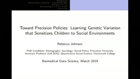 Thumbnail for entry Towards Precision Policies: Learning Genetic Variation that Sensitizes Children to Social Environments