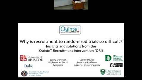 Thumbnail for entry Why Is Recruitment To Trials So Difficult? Insights and Solutions from the QuinteT Recruitment Intervention (QRI)
