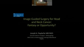 Thumbnail for entry Image-Guided Surgery for Head and Neck Cancer:  Fantasy or Opportunity?""