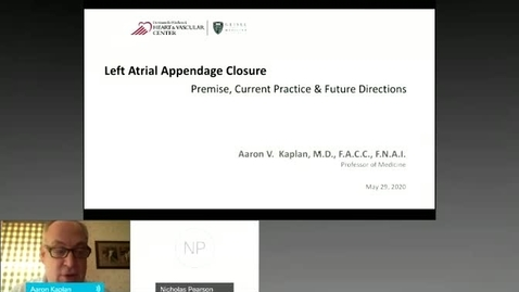 Thumbnail for entry Updates in Left Atrial Appendage Closure