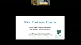 Thumbnail for entry Geisel Curriculum Proposal