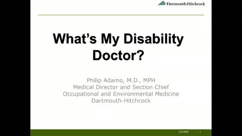 Thumbnail for entry What's My Disability Doctor?