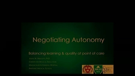 Thumbnail for entry Negotiating Autonomy: Balancing learning and quality