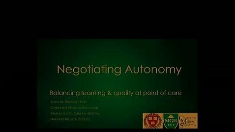Negotiating Autonomy: Balancing learning and quality
