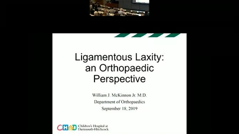 Thumbnail for entry Ligamentous Laxity: An Orthopaedic Perspecitve