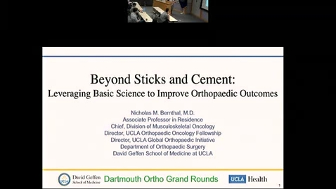 Thumbnail for entry Beyond Sticks and Cement: Leveraging Scientific Advances to Improve Orthopaedic Outcomes