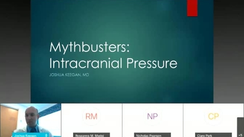 Thumbnail for entry Myth Busters- Intracranial Pressure