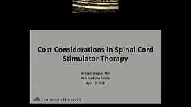 Thumbnail for entry Updated Cost Considerations for Spinal Cord Stimulation