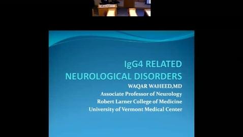 IgG4 related neurological disorders