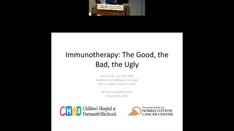 Thumbnail for entry Immunotherapy: The Good, The Bad, The Ugly