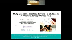 Thumbnail for entry Outpatient Medication Errors in Children: A Health Literacy Perspective