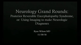 Thumbnail for entry Posterior Reversible Encephalopathy Syndrome: using imaging to make neurologic diagnoses