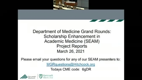Thumbnail for entry Department of Medicine Scholarship Enhancement in Academic Medicine (SEAM) Project Reports